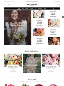 paradise flower shop wordpress theme