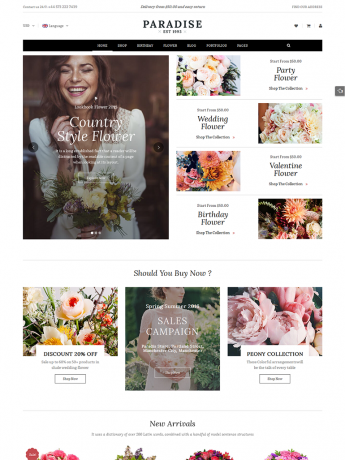 Paradise-WordPress Theme