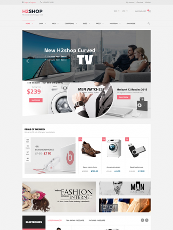 H2Shop-WordPress Theme