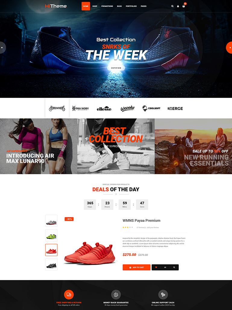 HiTheme Fashion Digital Store WooCommerce WordPress Theme