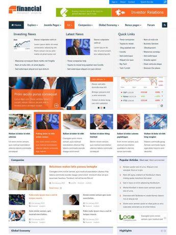 Financial-WordPress Theme