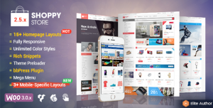 shoppystore theme with mobile specifix layouts