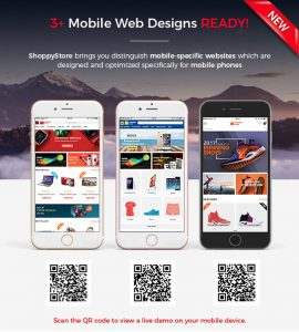 shoppystore with mobile specifix layouts
