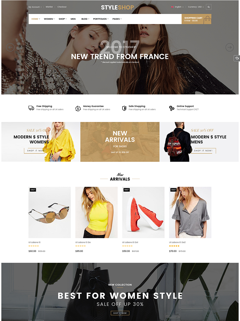 StyleShop - Responsive Clothing/ Fashion Store WordPress WooCommerce Theme