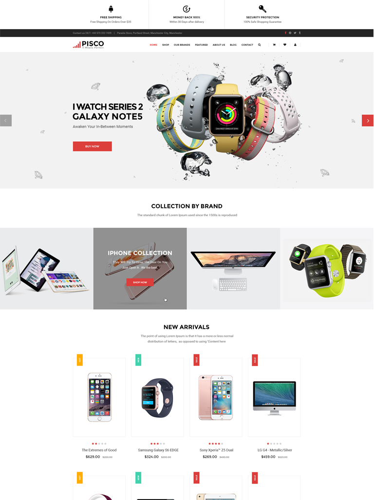 Pisco  - Responsive WooCommerce WordPress Theme