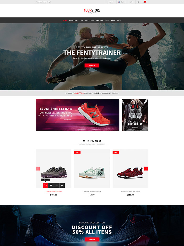 YourStore - Free Responsive WooCommerce WordPress Theme