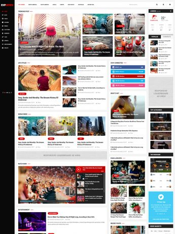 ExpNews-WordPress Theme