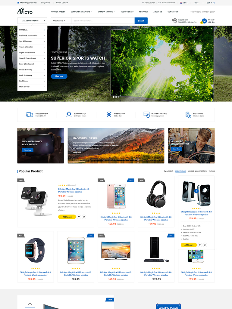 victo ecommerce marketplace wordpress theme