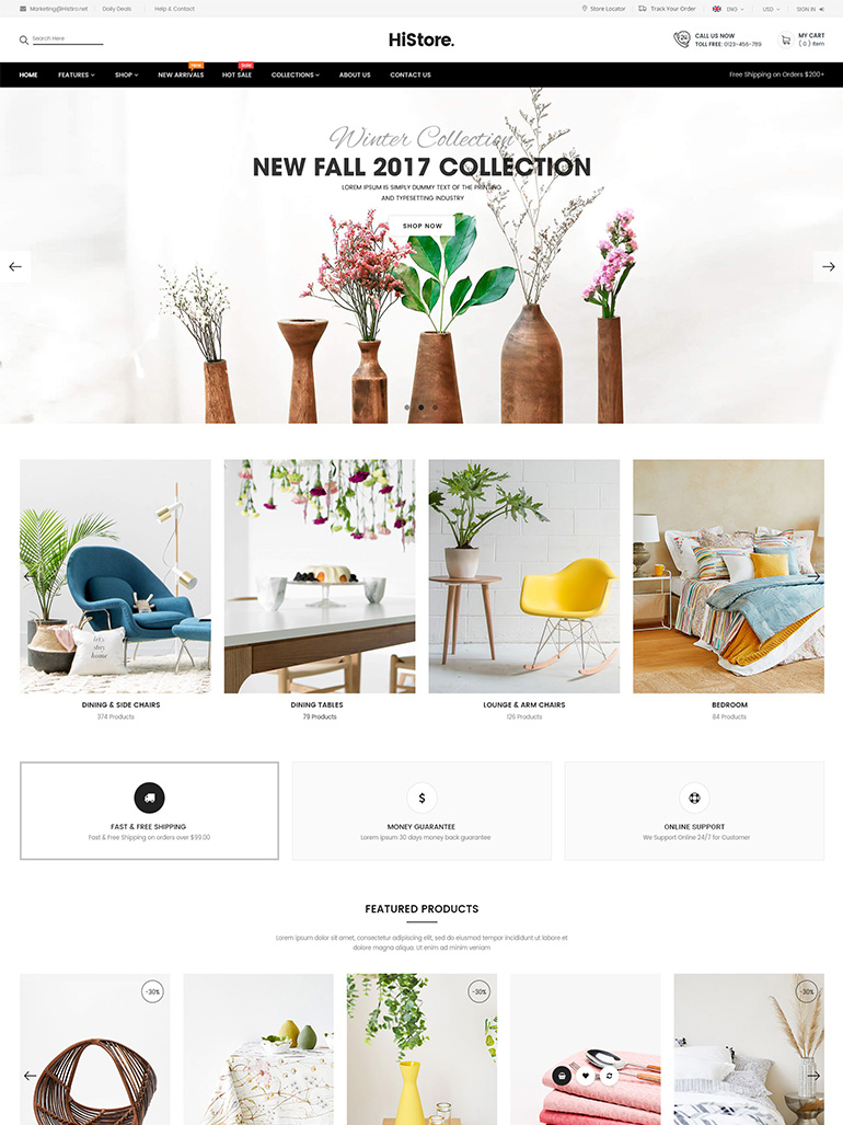 HiStore - Fashion Shop, Furniture Store eCommerce MarketPlace WordPress Theme