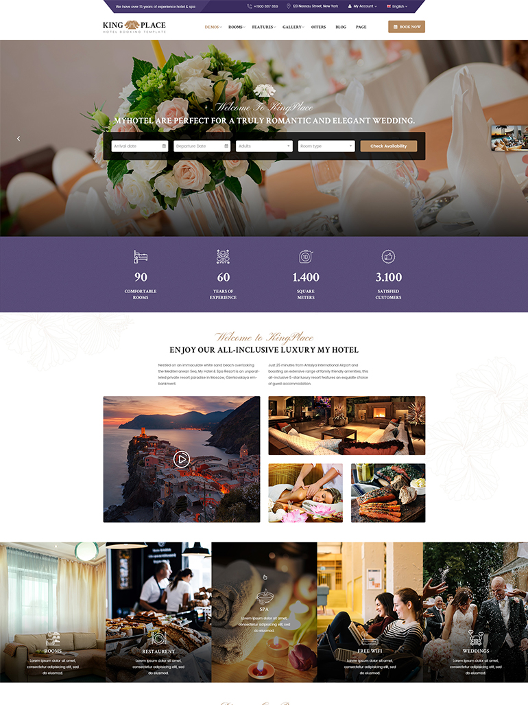 Hotel Booking, Spa & Resort WordPress Theme
