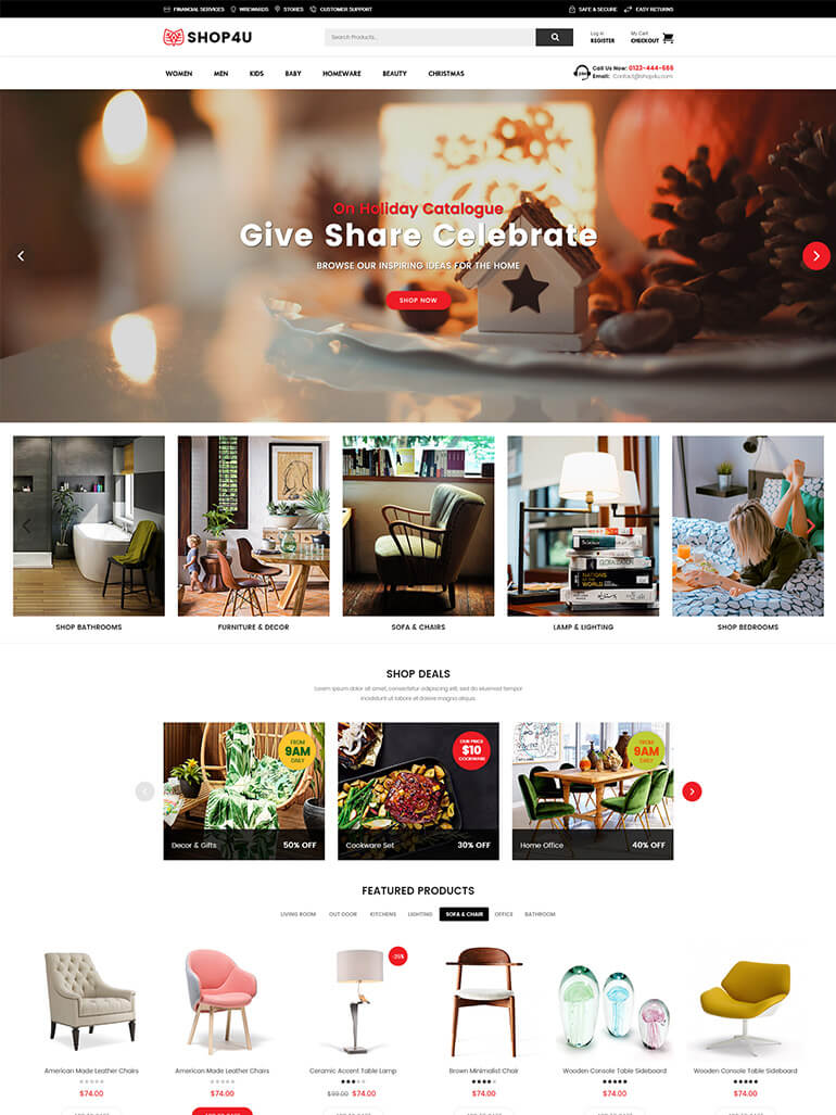 Modern Multi Vendor MarketPlace WordPress Theme - Shop4U