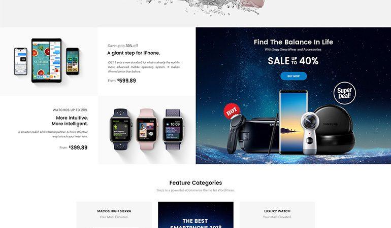 Siezz - WooCommerce MarketPlace WordPress Theme