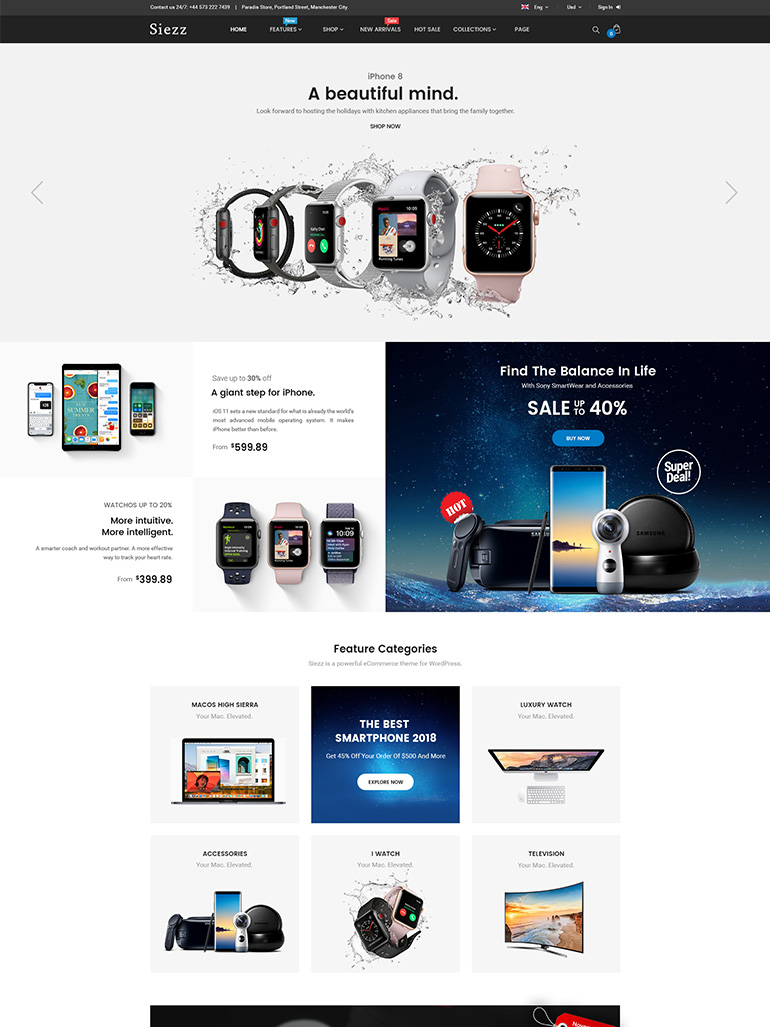 Siezz - WooCommerce MarketPlace WordPress Theme