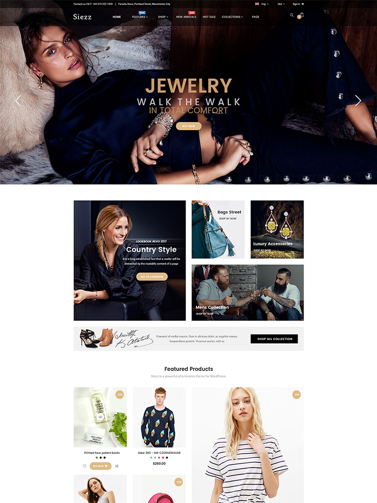 Siezz - Modern Multi Vendor MarketPlace WordPress Theme