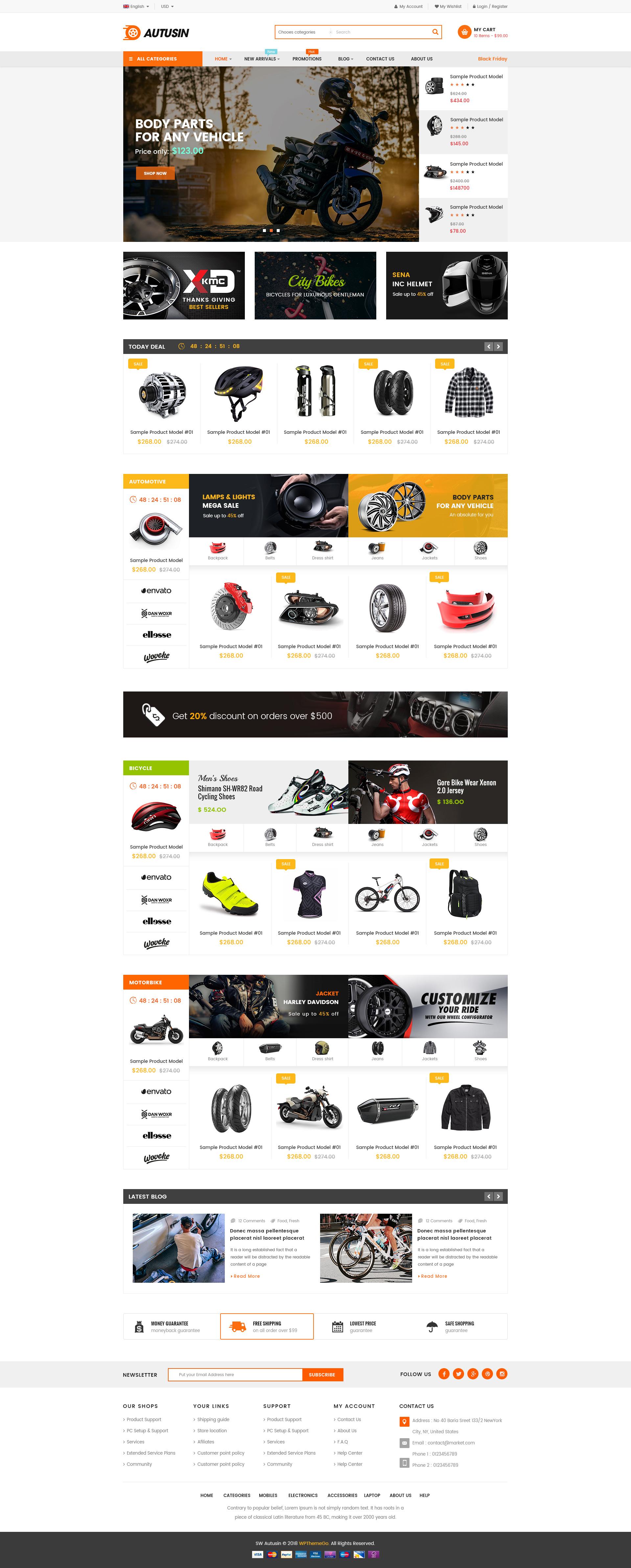 Autusin - Auto Parts Shop WordPress Theme