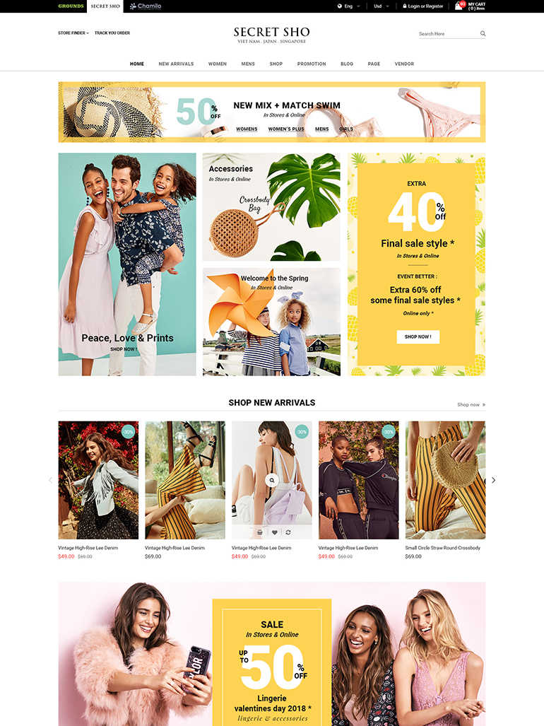 SecretSho - Fashion MarketPlace WooCommerce Theme
