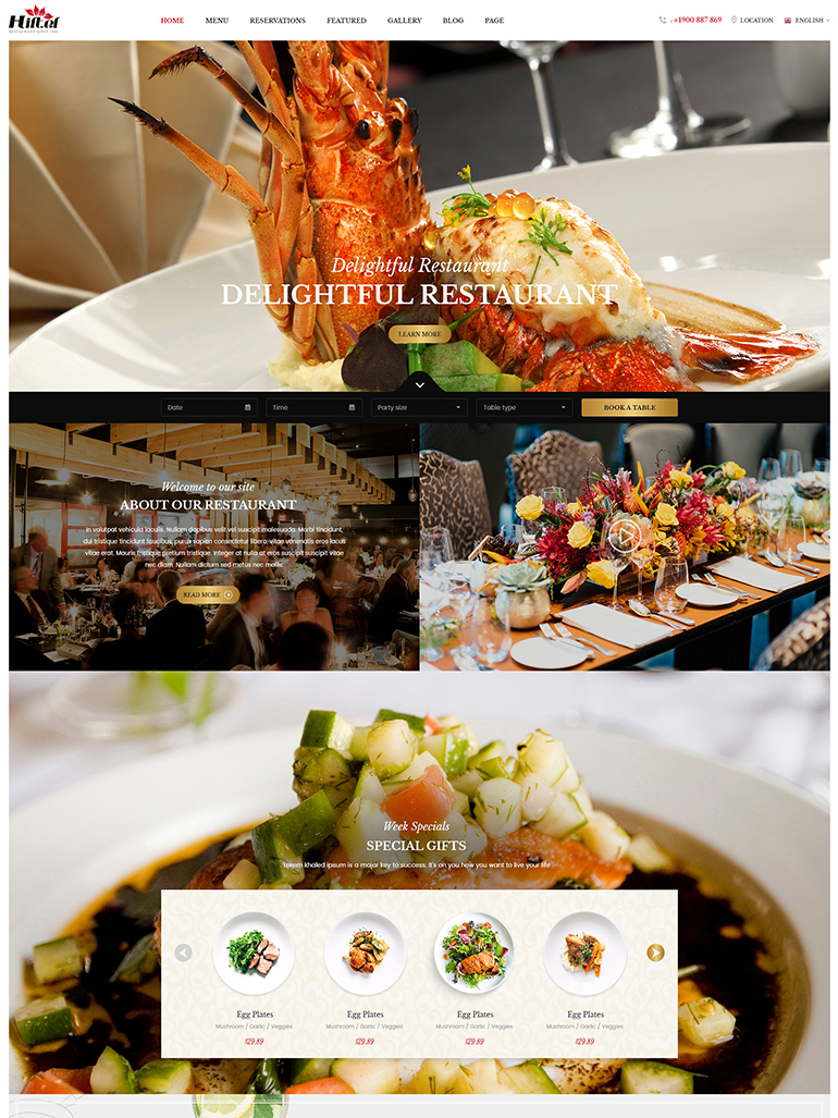 Hiltel - Premium Food & Restaurant WordPress Theme