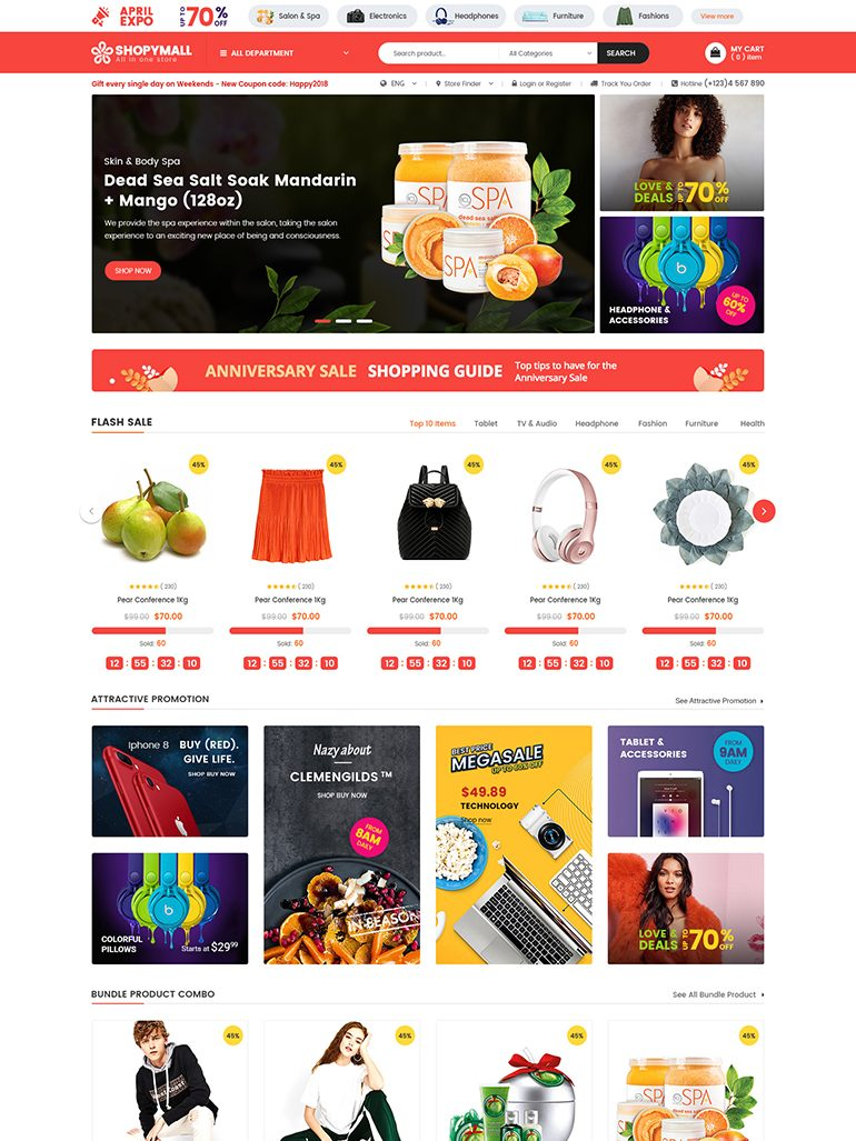ShopyMall - Beautiful Multi-Vendor MarketPlace WooCommerce WordPress Theme
