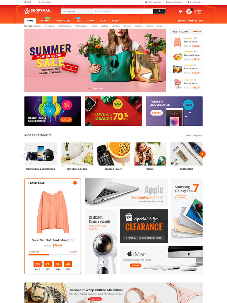 ShopyMall – Beautiful Multi-Vendor MarketPlace WooCommerce WordPress Theme