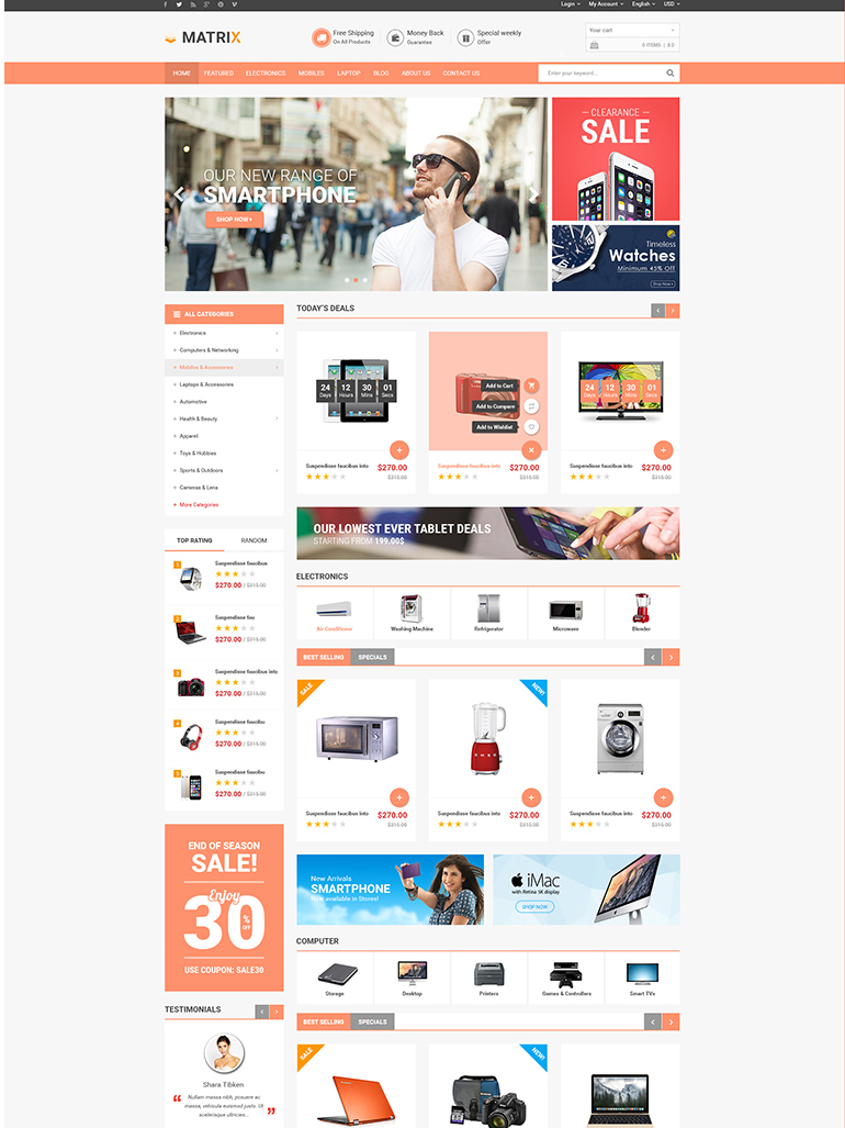 Free Responsive Wordpress Theme Matrix Wpthemego