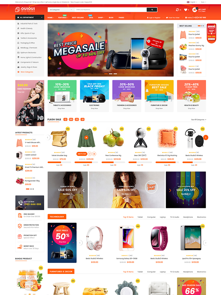 OuiOui - Multivendor MarketPlace WooCommerce WordPress Theme