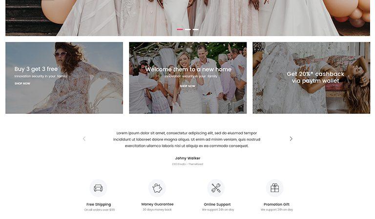 KONStore - Wedding Dress WooCommerce WordPress Theme