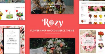 New Release: Rozy - Flower Shop WooCommerce Theme
