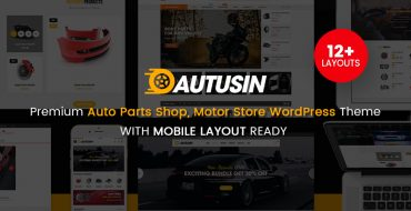 [THEME UPDATE] Autusin - Auto Parts Shop Theme Updated to 12 Homepages & 3 Mobile Layouts