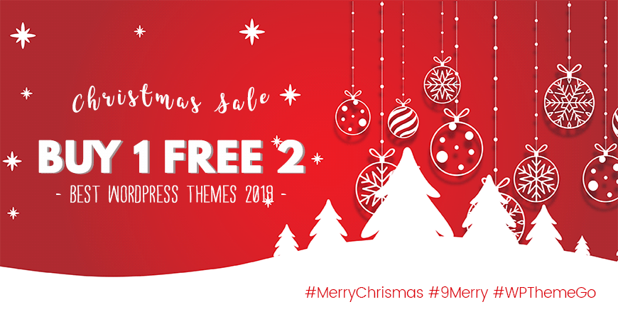 christmas sale buy 1 free 2 best wordpress themes
