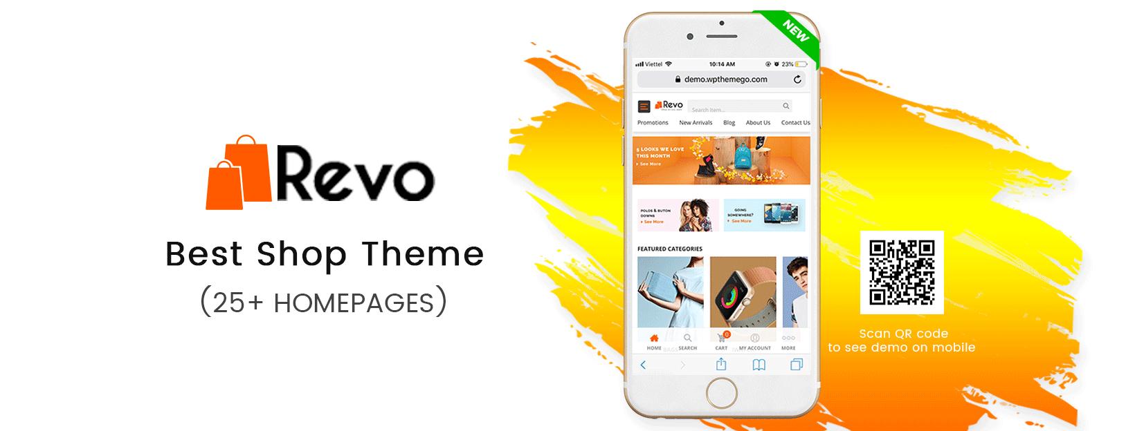 Revo - Best Multipurpose WooCommerce WordPress Theme (25+ Homepages & 5+ Mobile Layouts Ready)