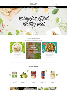 Organic Food Store & Eco Products WordPress Theme - EcoMart