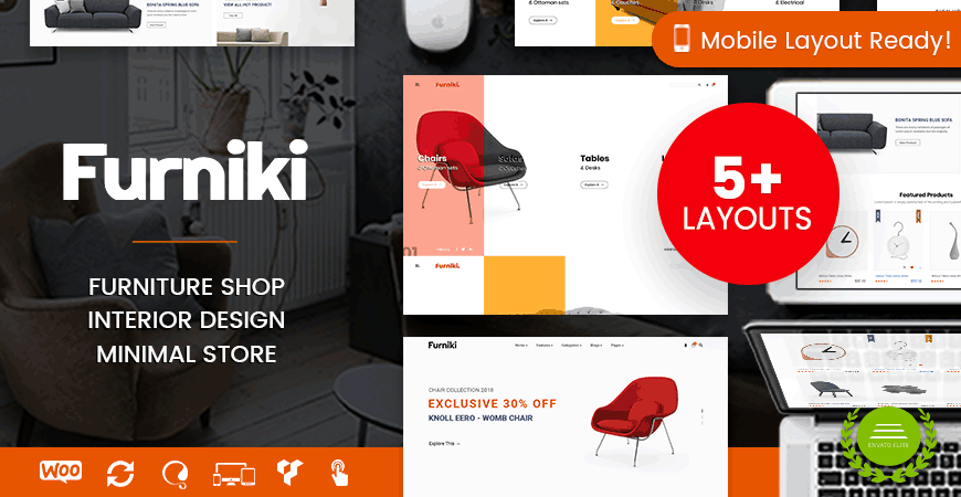 Furniki - Clean Furniture Store & Interior Design WordPress Theme