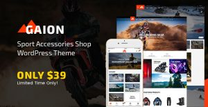 Sport Accessories Shop WordPress WooCommerce Theme - Gaion