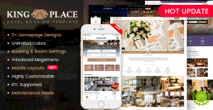 Mobile Layout Ready in KingPlace – Hotel Booking WordPress Theme