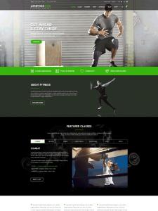 Athetics - Gym Fitness WordPress Theme