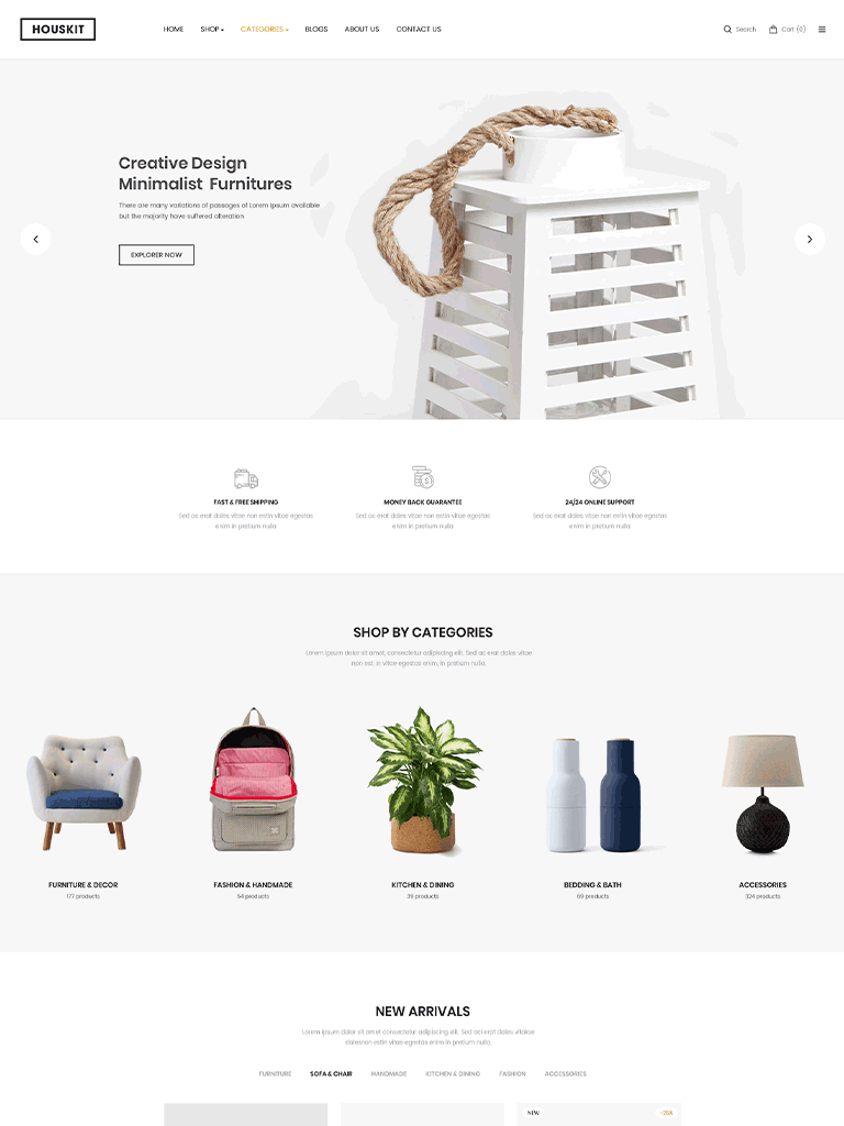 Houskit – Interior Design & Furniture Store WordPress Theme