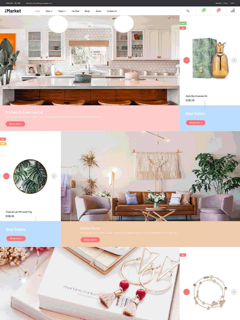 Gift Shop WordPress WooCommerce Theme - iMarket