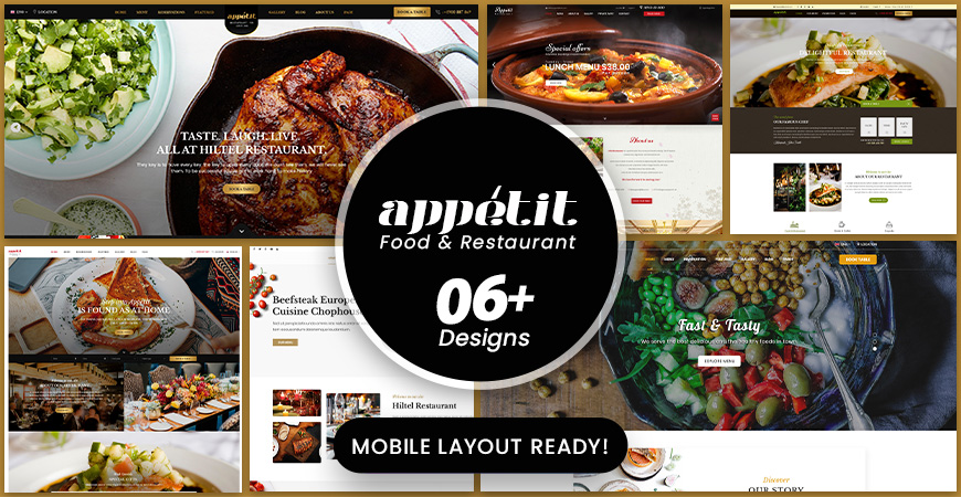 Appetit - Food & Restaurant WordPress Theme