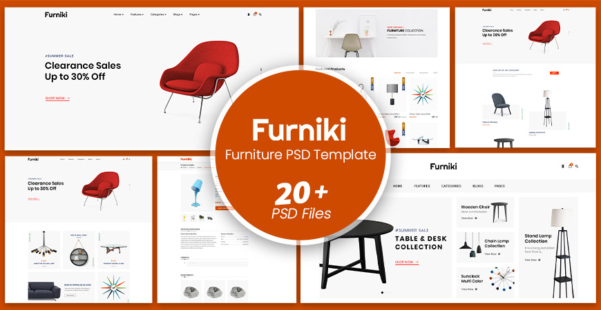 Furniki - Furniture Store & Interior Design PSD Template