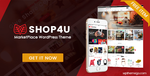 SHOP4U Free MarketPlace WordPress Theme