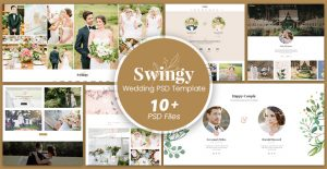 Swingy – Wedding Event PSD Template
