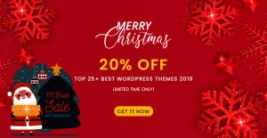 [Christmas Sale] 20% OFF on 15+ Best WordPress Themes 2019