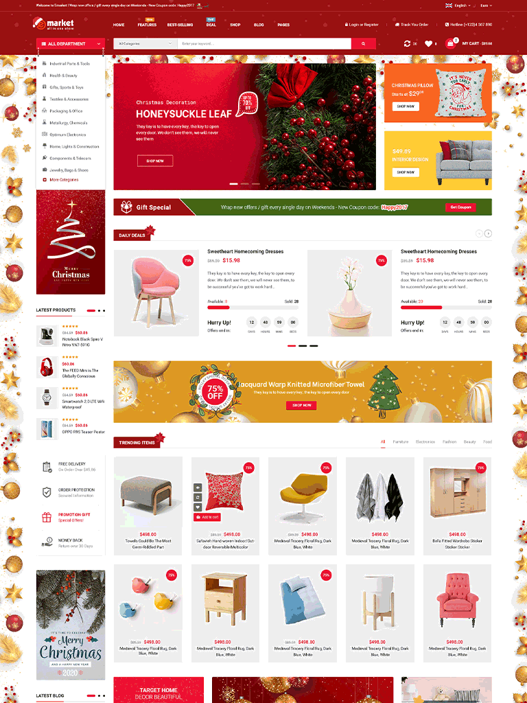 eMarket - Multi Vendor MarketPlace WordPress Theme