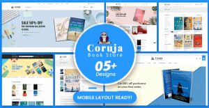 Coruja - Book Store & Publisher WordPress WooCommerce Theme