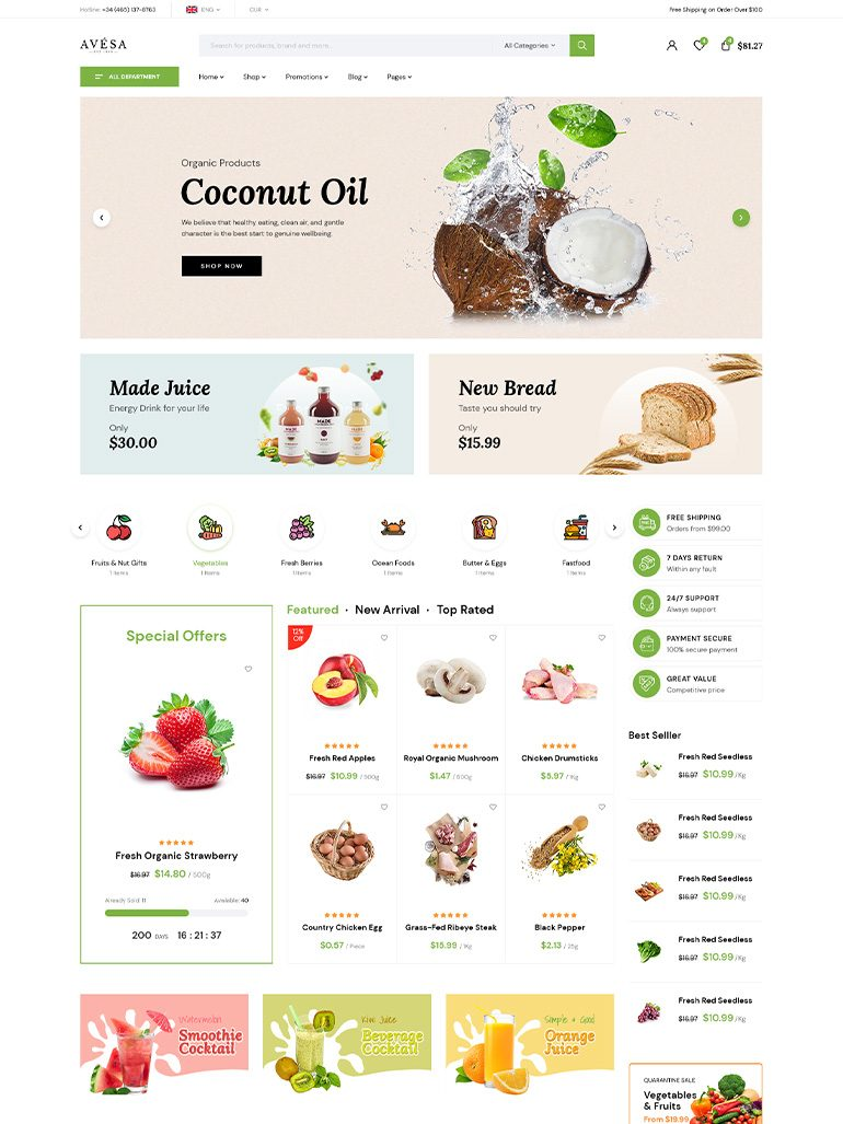 Avesa - Beauty Cosmetics Store Elementor WooCommerce WordPress Theme