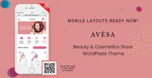 Mobile Layout Ready in Avesa - Beauty & Cosmetics Store WooCommerce WordPress Theme