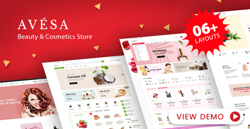 Avesa - Beauty & Cosmetics Store WooCommerce WordPress Theme