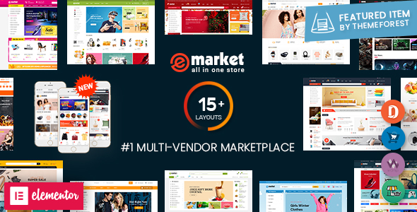 eMarket - Multi Vendor MarketPlace WooCommerce WordPress Theme