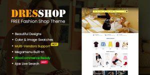 DresShop - Free Clothing/ Fashion Shop WordPress Theme