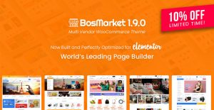 BosMarket – Flexible Multi-Vendor Elementor WooCommerce WordPress Theme